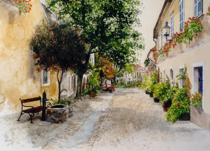mag. marcus stiehl_gumpoldskirchen_aquarell_watercolour
